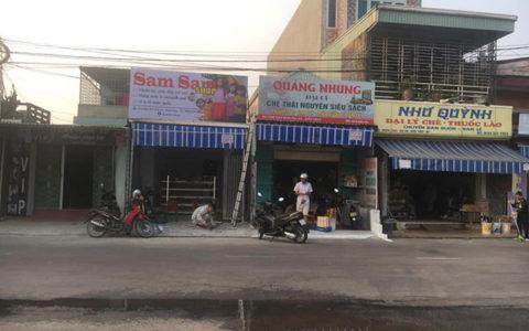 biển cửa hàng sam sam shop hải phòng