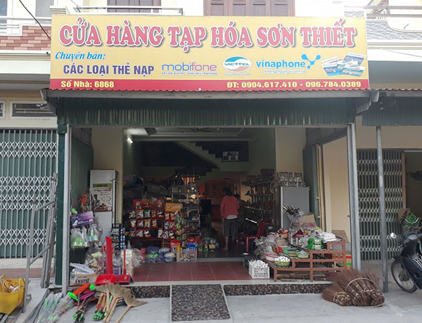 biển cửa hàng tạp hóa hải phòng rẻ